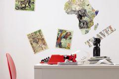 19003 cikkszámú tapéta.Különleges motívumos,természeti mintás,barna,bézs-drapp,narancs-terrakotta,pink-rózsaszín,piros-bordó,sárga,szürke,zöld,anyagában öntapadós falmatrica