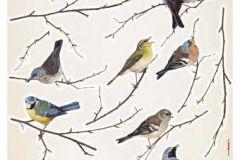 19005 cikkszámú tapéta.Természeti mintás,barna,bézs-drapp,kék,szürke,vajszín,zöld,anyagában öntapadós falmatrica