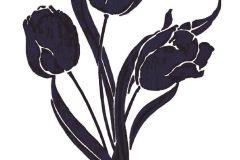 19007 cikkszámú tapéta.Virágmintás,fekete,lila,anyagában öntapadós falmatrica