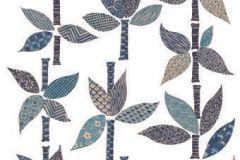 19010 cikkszámú tapéta.Természeti mintás,kék,lila,türkiz,zöld,anyagában öntapadós falmatrica