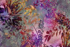 4-211 cikkszámú tapéta.Absztrakt,természeti mintás,barna,pink-rózsaszín,szürke,papír poszter, fotótapéta