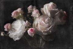 4-876 cikkszámú tapéta.3d hatású,fotórealisztikus,különleges motívumos,természeti mintás,virágmintás,fehér,fekete,pink-rózsaszín,papír poszter, fotótapéta