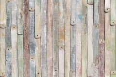 4-910 cikkszámú tapéta.Csíkos,fa hatású-fa mintás,fotórealisztikus,barna,kék,sárga,szürke,zöld,papír poszter, fotótapéta