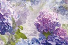 8-705 cikkszámú tapéta.3d hatású,feliratos-számos,természeti mintás,virágmintás,fehér,lila,zöld,papír poszter, fotótapéta