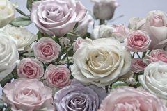 8-736 cikkszámú tapéta.3d hatású,fotórealisztikus,természeti mintás,virágmintás,fehér,kék,pink-rózsaszín,zöld,papír poszter, fotótapéta