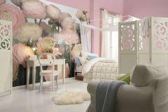 8-894 cikkszámú tapéta.3d hatású,fotórealisztikus,természeti mintás,virágmintás,fehér,kék,pink-rózsaszín,zöld,papír poszter, fotótapéta