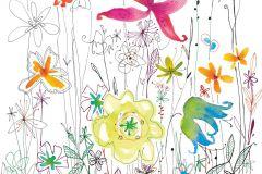XXL2-022 cikkszámú tapéta.Gyerek,rajzolt,természeti mintás,fehér,fekete,piros-bordó,sárga,zöld,vlies poszter, fotótapéta
