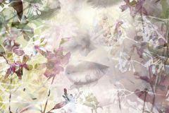XXL2-065 cikkszámú tapéta.Absztrakt,rajzolt,természeti mintás,virágmintás,fehér,lila,szürke,vlies poszter, fotótapéta