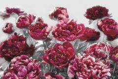 XXL4-002 cikkszámú tapéta.3d hatású,virágmintás,piros-bordó,szürke,vlies poszter, fotótapéta