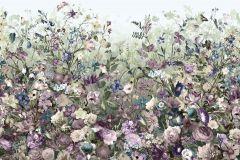 XXL4-035 cikkszámú tapéta.Virágmintás,kék,lila,zöld,vlies poszter, fotótapéta