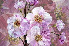 XXL4-064 cikkszámú tapéta.3d hatású,geometriai mintás,fehér,lila,pink-rózsaszín,vlies poszter, fotótapéta