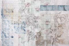 XXL4-068 cikkszámú tapéta.Természeti mintás,virágmintás,fehér,kék,szürke,vlies poszter, fotótapéta
