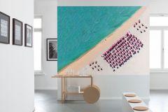 XXL2-047 cikkszámú tapéta.Fotórealisztikus,tájkép,bézs-drapp,fekete,kék,pink-rózsaszín,türkiz,zöld,gyengén mosható,vlies poszter, fotótapéta