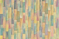 XXL4-028 cikkszámú tapéta.Fa hatású-fa mintás,kék,lila,narancs-terrakotta,sárga,szürke,zöld,gyengén mosható,vlies poszter, fotótapéta