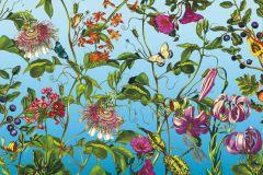 XXL4-029 cikkszámú tapéta.állatok,virágmintás,kék,lila,pink-rózsaszín,piros-bordó,sárga,zöld,gyengén mosható,vlies poszter, fotótapéta