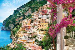XXL4-043 cikkszámú tapéta.Fotórealisztikus,tájkép,természeti mintás,fehér,kék,narancs-terrakotta,pink-rózsaszín,sárga,zöld,gyengén mosható,vlies poszter, fotótapéta
