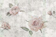 XXL4-049 cikkszámú tapéta.Kőhatású-kőmintás,retro,virágmintás,pink-rózsaszín,szürke,zöld,gyengén mosható,vlies poszter, fotótapéta