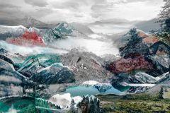 XXL4-053 cikkszámú tapéta.Fotórealisztikus,tájkép,természeti mintás,fehér,piros-bordó,szürke,türkiz,gyengén mosható,vlies poszter, fotótapéta