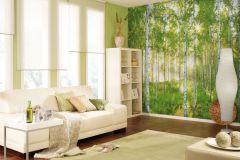 XXL4-519 cikkszámú tapéta.Fa hatású-fa mintás,fotórealisztikus,tájkép,természeti mintás,fehér,fekete,sárga,szürke,zöld,gyengén mosható,vlies poszter, fotótapéta