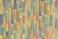 XXL4-028 cikkszámú tapéta.Fa hatású-fa mintás,fotórealisztikus,gyerek,kék,lila,narancs-terrakotta,sárga,türkiz,zöld,gyengén mosható,vlies poszter, fotótapéta