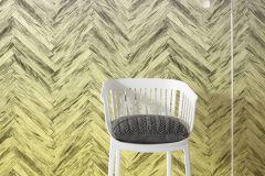 6000C-VD4 cikkszámú tapéta.Fa hatású-fa mintás,különleges felületű,sárga,szürke,vlies poszter, fotótapéta