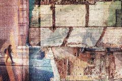 6001A-VD4 cikkszámú tapéta.Absztrakt,különleges felületű,barna,bézs-drapp,kék,lila,piros-bordó,zöld,vlies poszter, fotótapéta