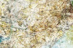 6002A-VD2 cikkszámú tapéta.Különleges felületű,rajzolt,barna,kék,sárga,zöld,vlies poszter, fotótapéta