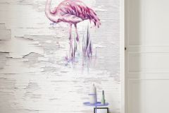 6007A-VD2 cikkszámú tapéta.állatok,különleges motívumos,kék,lila,pink-rózsaszín,szürke,vlies poszter, fotótapéta