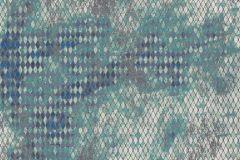 6009A-VD4 cikkszámú tapéta.Absztrakt,különleges felületű,különleges motívumos,ezüst,kék,szürke,türkiz,zöld,vlies poszter, fotótapéta