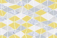 6014A-VD4 cikkszámú tapéta.Absztrakt,különleges felületű,rajzolt,retro,fehér,sárga,szürke,vlies poszter, fotótapéta