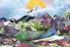6017A-VD3 cikkszámú tapéta.Absztrakt,különleges felületű,különleges motívumos,barna,kék,lila,narancs-terrakotta,pink-rózsaszín,piros-bordó,sárga,zöld,vlies poszter, fotótapéta