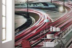 6022A-VD4 cikkszámú tapéta.Absztrakt,fehér,fekete,piros-bordó,szürke,vlies poszter, fotótapéta