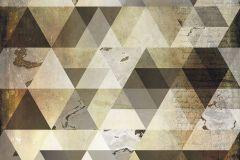 6025A-VD2 cikkszámú tapéta.Absztrakt,geometriai mintás,különleges felületű,különleges motívumos,arany,bronz,fekete,vlies poszter, fotótapéta
