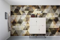 6025A-VD4 cikkszámú tapéta.Absztrakt,geometriai mintás,különleges felületű,különleges motívumos,arany,bronz,fekete,sárga,szürke,vlies poszter, fotótapéta