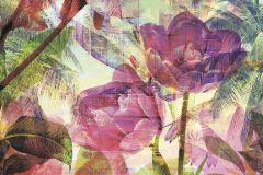 6026A-VD2 cikkszámú tapéta.Absztrakt,különleges felületű,különleges motívumos,természeti mintás,virágmintás,fehér,kék,lila,narancs-terrakotta,pink-rózsaszín,piros-bordó,sárga,szürke,zöld,vlies poszter, fotótapéta
