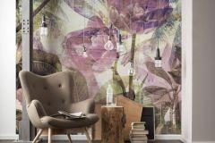 6026B-VD2 cikkszámú tapéta.Absztrakt,különleges felületű,különleges motívumos,természeti mintás,virágmintás,barna,bronz,fehér,kék,lila,pink-rózsaszín,szürke,vlies poszter, fotótapéta