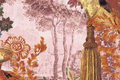 6030A-VD1 cikkszámú tapéta.Fa hatású-fa mintás,különleges motívumos,természeti mintás,virágmintás,barna,kék,lila,narancs-terrakotta,pink-rózsaszín,sárga,zöld,vlies poszter, fotótapéta