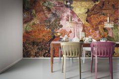 6030A-VD3 cikkszámú tapéta.állatok,különleges motívumos,természeti mintás,virágmintás,arany,bronz,lila,narancs-terrakotta,pink-rózsaszín,piros-bordó,sárga,szürke,zöld,vlies poszter, fotótapéta