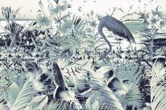 6031D-VD2 cikkszámú tapéta.állatok,különleges felületű,különleges motívumos,természeti mintás,kék,vajszín,vlies poszter, fotótapéta