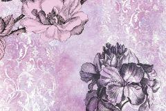 6032B-VD2 cikkszámú tapéta.Különleges felületű,különleges motívumos,természeti mintás,virágmintás,fehér,lila,pink-rózsaszín,szürke,vlies poszter, fotótapéta
