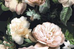 6035A-VD1 cikkszámú tapéta.Fotórealisztikus,különleges felületű,különleges motívumos,virágmintás,bézs-drapp,pink-rózsaszín,szürke,zöld,vlies poszter, fotótapéta