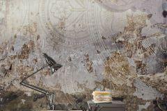 6036A-VD3 cikkszámú tapéta.Absztrakt,különleges motívumos,barna,bézs-drapp,szürke,vlies poszter, fotótapéta
