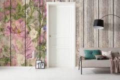 6038A-VD5 cikkszámú tapéta.Fa hatású-fa mintás,természeti mintás,virágmintás,barna,bézs-drapp,kék,lila,pink-rózsaszín,szürke,vlies poszter, fotótapéta
