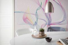 6039A-VD4 cikkszámú tapéta.Absztrakt,különleges motívumos,rajzolt,kék,lila,narancs-terrakotta,pink-rózsaszín,piros-bordó,sárga,szürke,zöld,vlies poszter, fotótapéta