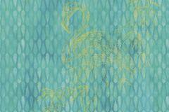 6042A-VD2A cikkszámú tapéta.Absztrakt,állatok,különleges motívumos,természeti mintás,kék,türkiz,zöld,vlies poszter, fotótapéta