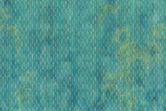 6042A-VD4 cikkszámú tapéta.Absztrakt,állatok,különleges motívumos,természeti mintás,ezüst,kék,türkiz,zöld,vlies poszter, fotótapéta