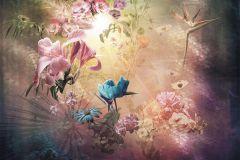 6048A-VD2 cikkszámú tapéta.Absztrakt,különleges motívumos,természeti mintás,virágmintás,arany,barna,bézs-drapp,kék,lila,narancs-terrakotta,pink-rózsaszín,sárga,zöld,vlies poszter, fotótapéta