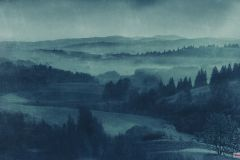 P010-VD4 cikkszámú tapéta.Természeti mintás,kék,zöld,vlies poszter, fotótapéta