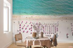 P011-VD4 cikkszámú tapéta.Fotórealisztikus,természeti mintás,bézs-drapp,kék,pink-rózsaszín,zöld,vlies poszter, fotótapéta