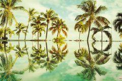 P012-VD4 cikkszámú tapéta.Fotórealisztikus,természeti mintás,barna,kék,zöld,vlies poszter, fotótapéta